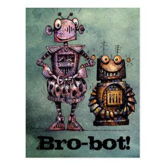 Postal ¡Dos robots divertidos - Bro-Bot!