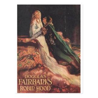 Postal Douglas Fairbanks como Robin Hood