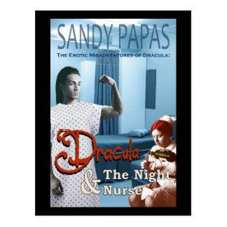 Postal Drácula y la enfermera de noche