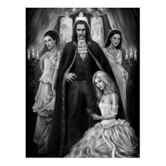 Postal Drácula y sus señoras
