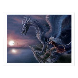 Postal Dragón azul