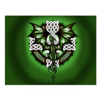 Postal dragón céltico