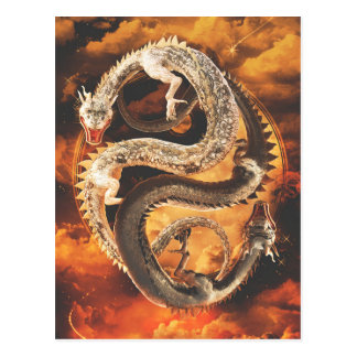 Postal Dragones de Yin Yang - caos