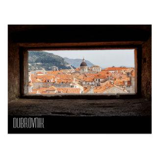 Postal Dubrovnik de las paredes de la ciudad