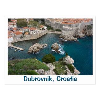 Postal Dubrovnik desde arriba