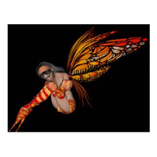 Postal Duendecillo anaranjado de la mariposa de monarca