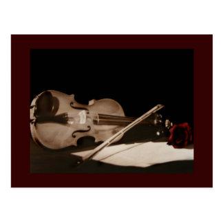Postal dulce de Melondy del violín clásico de la