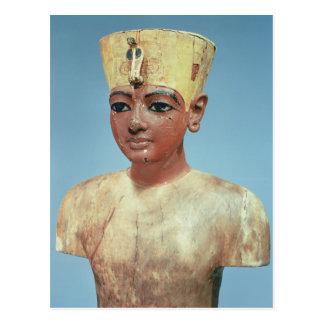Postal Dummy de llevar joven de Tutankhamun
