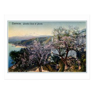 Postal Duque del jardín de Sicilia del vintage de Bronte