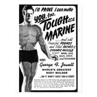 Postal ¡Duro como infante de marina!