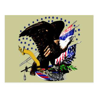 Postal Eagle calvo americano