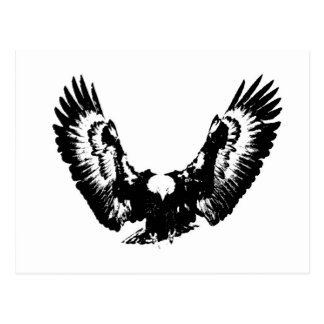 Postal Eagle negro y blanco
