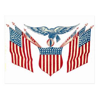 Postal - Eagle patriótico