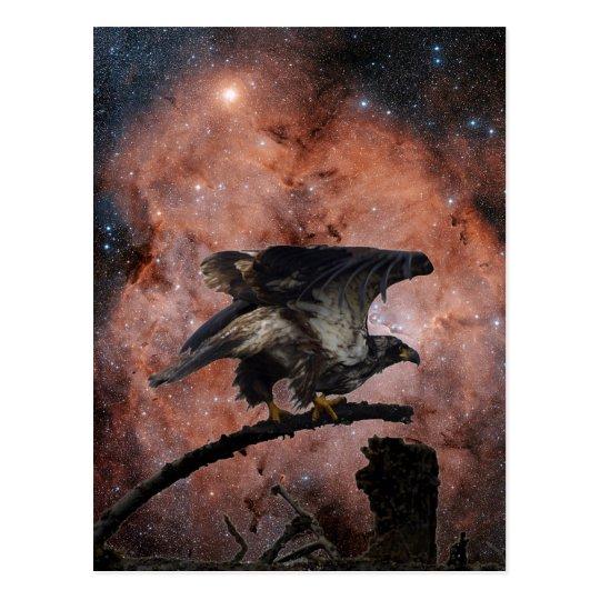 Postal Eagle y regalos del espacio exterior