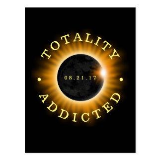 Postal Eclipse solar adicto de la totalidad