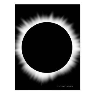 Postal Eclipse solar con la corona