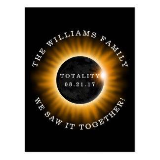 Postal Eclipse solar de la totalidad de la familia