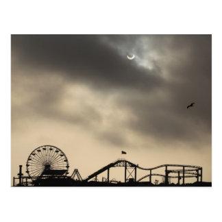 Postal Eclipse solar de Santa Mónica