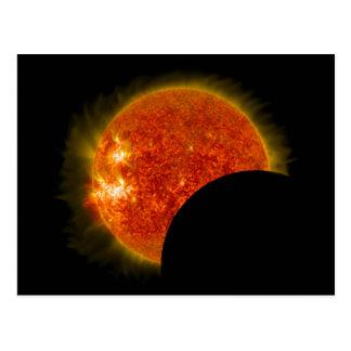 Postal Eclipse solar en curso