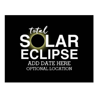 Postal Eclipse solar total 2017 - fecha y ubicación de