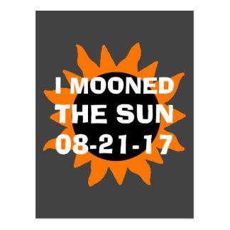 Postal Eclipse solar total estuve en la luna el Sun