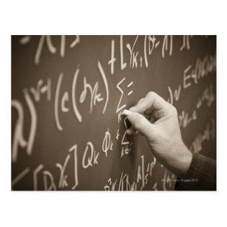 Postal Ecuaciones de la matemáticas de la impresión del