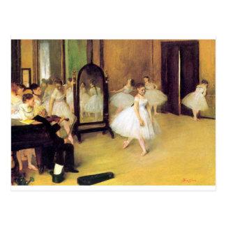 Postal Edgar Degas - clase de danza