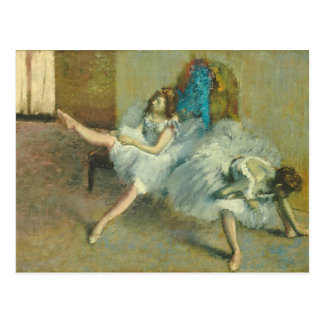 Postal Edgar Degas el   antes del ballet, 1890-1892