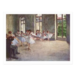 Postal Edgar Degas el   el ensayo del ballet