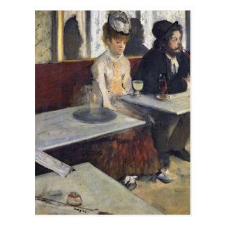 Postal Edgar Degas el | en un café, o el ajenjo