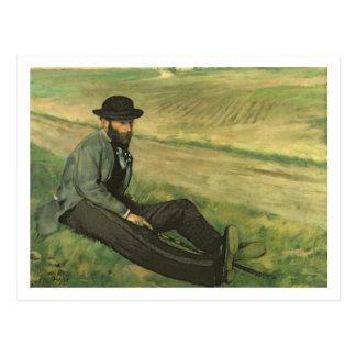 Postal Edgar Degas el   Eugene Manet