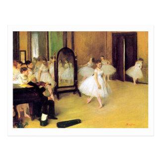Postal Edgar Degas el   la clase de baile