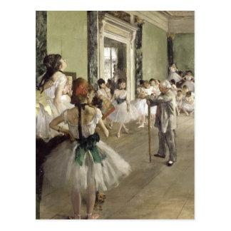 Postal Edgar Degas el   la clase del ballet