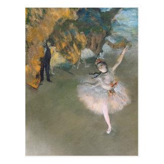 Postal Edgar Degas el | la estrella, o bailarín en la
