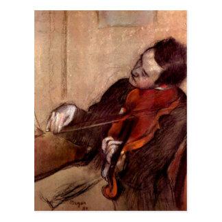 Postal Edgar Degas - el violinista