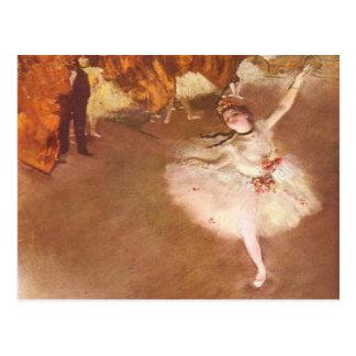 Postal Edgar Degas la estrella