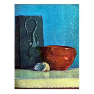 Postal Edgar Degas - todavía vida con el lagarto