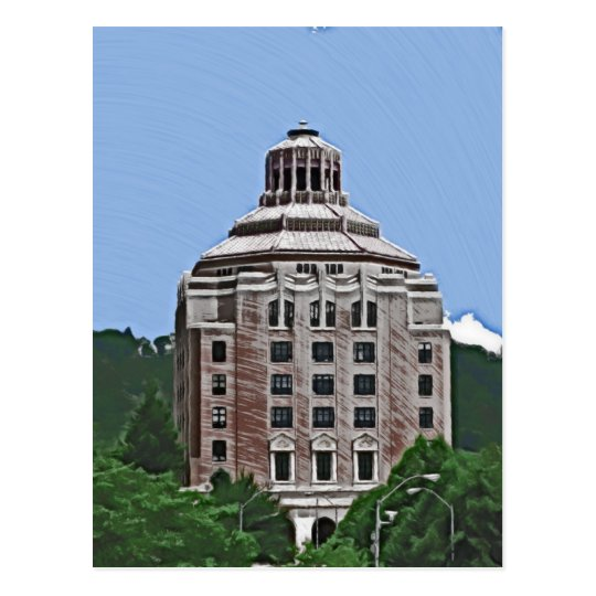 Postal Edificio de la ciudad, Asheville
