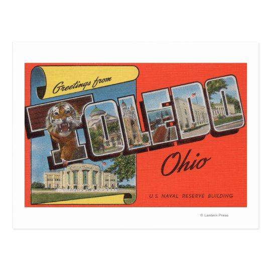 Postal Edificio de reserva naval de Toledo, Ohio - los