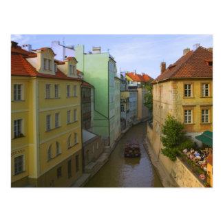 Postal Edificios históricos con el canal, Praga, checa
