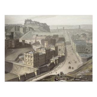 Postal Edimburgo, de la colina de Calton, 'de un viaje