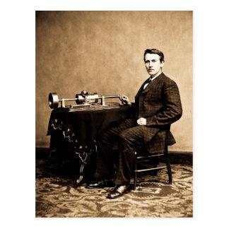 Postal Edison y su fonógrafo 1887