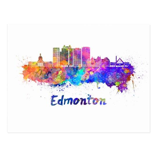 Postal Edmonton V2 skyline in watercolor