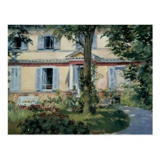 Postal Eduardo Manet - la casa en Rueil