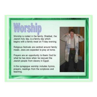 Postal Educación, religión, judaísmo, adoración judía
