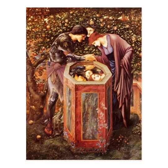 Postal Edward Burne-Jones la cabeza funesta
