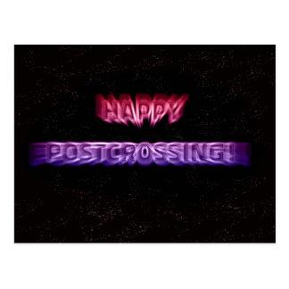 """Postal """"efecto del espacio de Postcrossing """""""