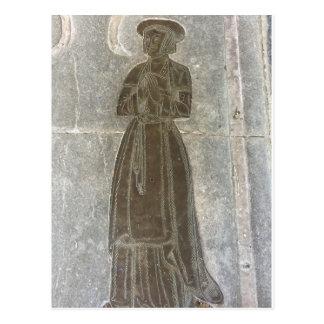 Postal Efigie de cobre amarillo de una mujer