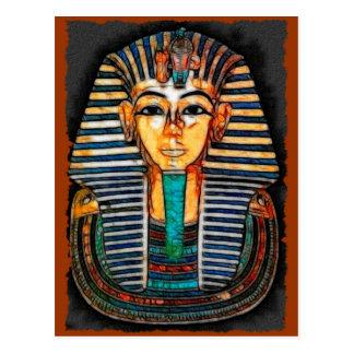 Postal egipcia del Pharaoh de TUTANKHAMEN