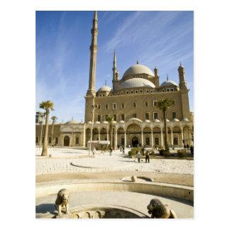 Postal Egipto, El Cairo. La mezquita imponente de